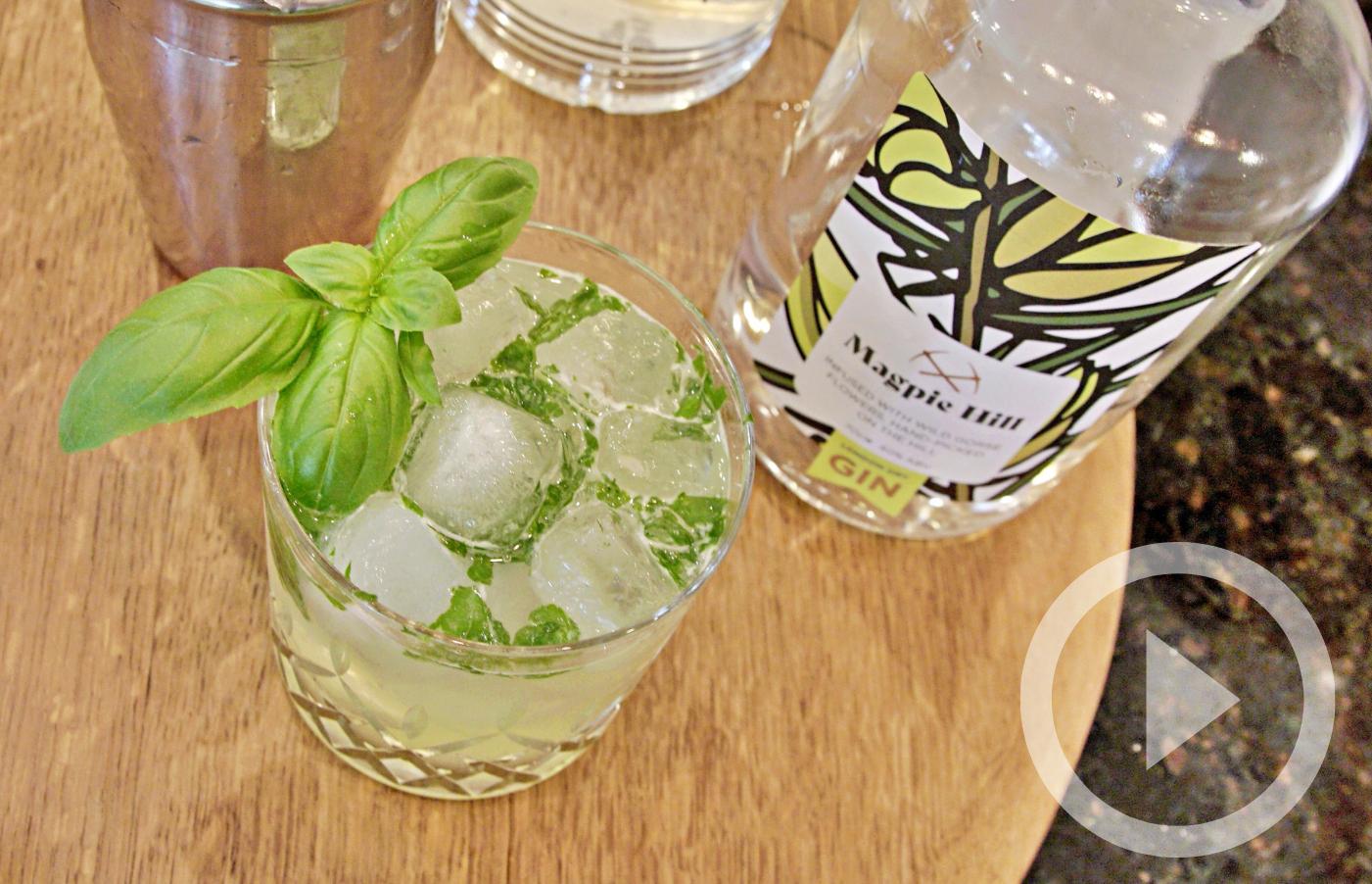How to make a Basil Smash Cocktail
